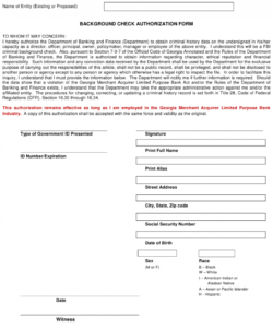 Costum Criminal Background Check Consent Form Template Word