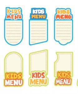 Costum Kids Menu Games Template Excel Example