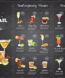 Editable Beverage Menu Template Doc Sample