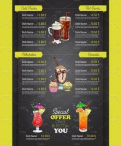 Editable Juice Bar Menu Template  Example