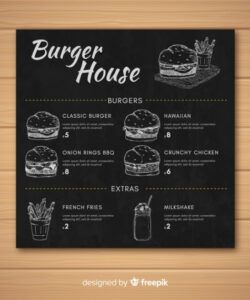 Free Chalkboard Restaurant Menu Template  Example
