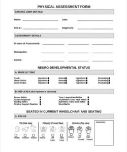 Free Fitness Assessment Form Template Doc Example