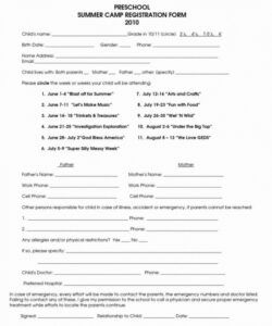 Printable Church Membership Form Template Pdf