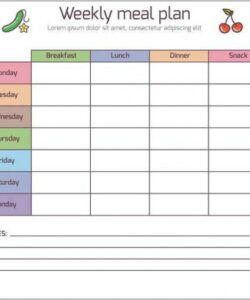 Printable Monthly Lunch Menu Template Doc Example