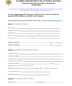 Printable New Employee Data Form Template Pdf Sample