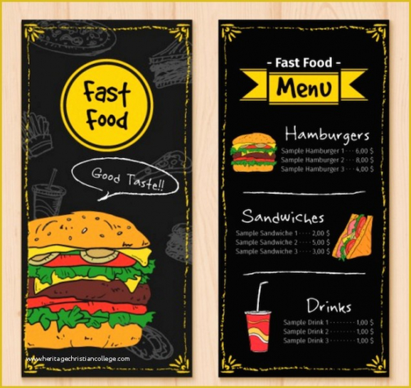 Professional Concession Stand Menu Template Word Example