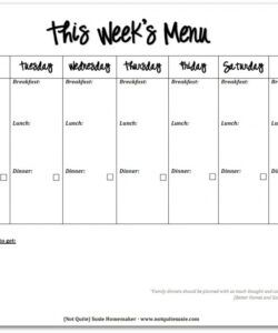 Professional Monthly School Lunch Menu Template Pdf Example
