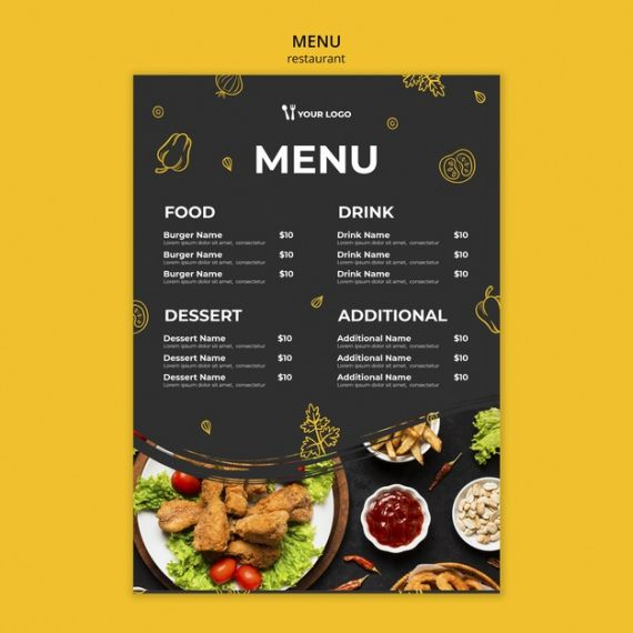 Steakhouse Menu Template Excel Example