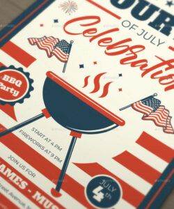 4Th Of July Menu Template  Example