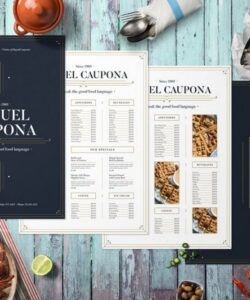 Best Appetizer Dessert Drink Menu Template Excel