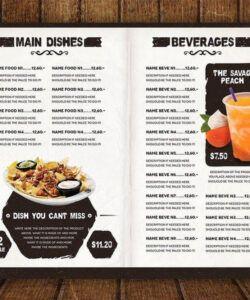 Best Restaurant Drink Menu Template Word
