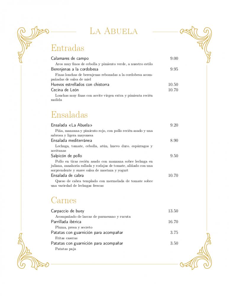 Best Spanish Restaurant Menu Template Pdf