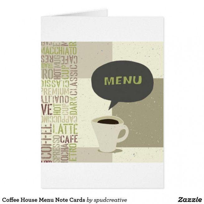 Coffee House Menu Template Doc