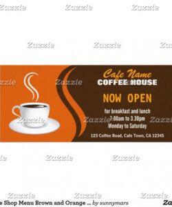 Costum Coffee House Menu Template Doc Sample