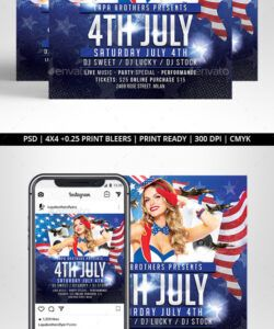 Editable 4Th Of July Menu Template Pdf