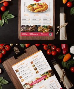 Editable Food Catering Menu Template Pdf Example