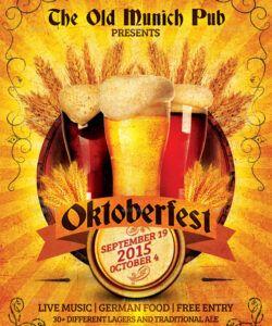 Editable Oktoberfest Menu Template Pdf Example