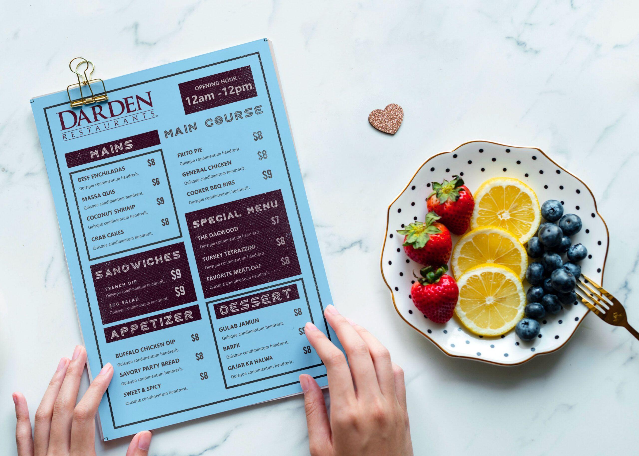 Editable Sandwich Menu Template Excel Example