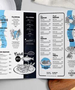 Editable Seafood Restaurant Menu Template Doc Sample