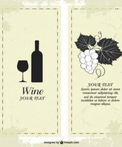Editable Wine Dinner Menu Template Doc Example