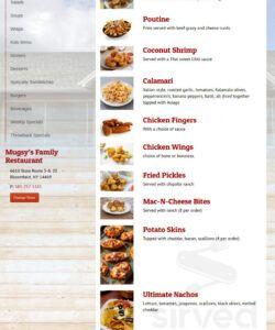 Free Family Restaurant Menu Template