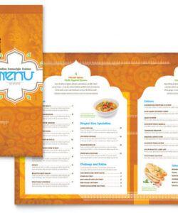Free Family Restaurant Menu Template Doc Sample