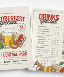 Free Oktoberfest Menu Template Pdf Example