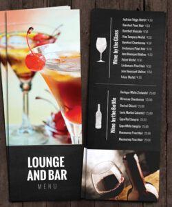 Free Restaurant Drink Menu Template Doc Sample