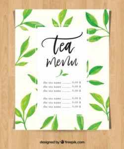 Free Tea Menu Template Doc Sample