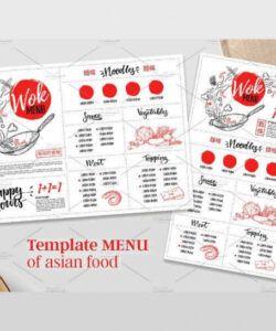 Japanese Restaurant Menu Template Excel