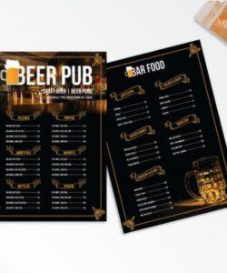 Printable Bar Food Menu Template
