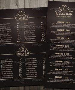 Printable Bar Food Menu Template Doc