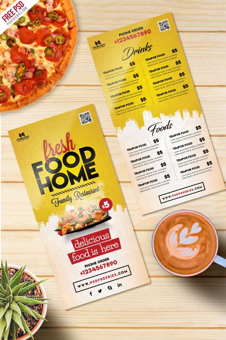 Printable Food Catering Menu Template Doc