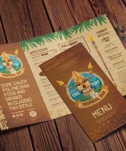 Printable Hawaiian Menu Template Doc Sample