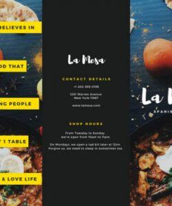 Printable Spanish Restaurant Menu Template Doc