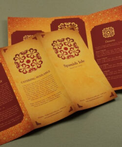 Printable Spanish Restaurant Menu Template Pdf Example