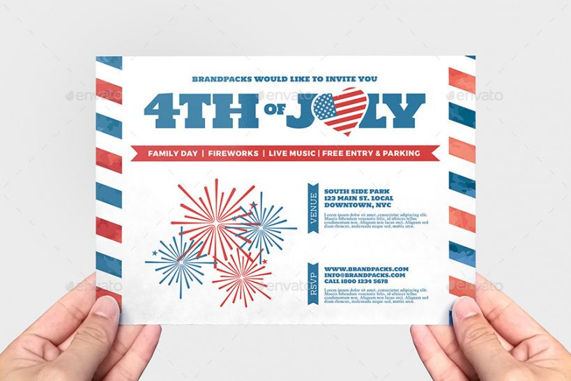 Professional 4Th Of July Menu Template Excel