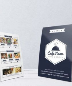 Professional Coffee House Menu Template  Sample