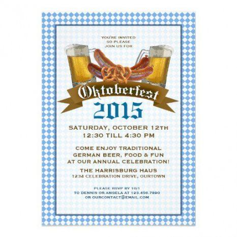 Professional Oktoberfest Menu Template Word Sample