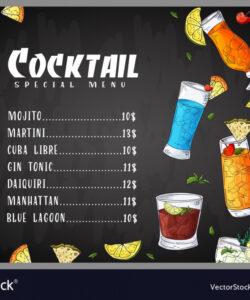Professional Restaurant Drink Menu Template Pdf