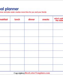 Professional Weekly Dinner Menu Planner Template  Sample