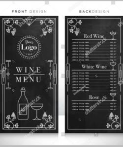 Wine Dinner Menu Template Doc Sample