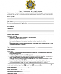 Access Form Template Doc Sample