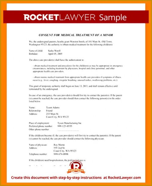 Best Consent To Treat Form Template Doc Sample