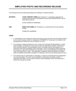Best Photo Release Form Template For Business Doc