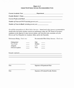 Best Wage Increase Salary Increase Form Template  Sample