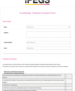 Costum Consent To Treat Form Template