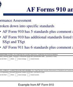 Editable Af Form 910 Template Word Sample
