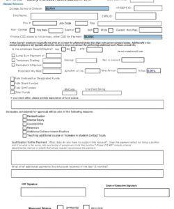 Editable Employee Form Template Word