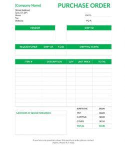 Editable Generic Order Form Template Pdf Sample